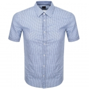 BOSS HUGO BOSS Ronn 2 Short Sleeve Shirt Blue