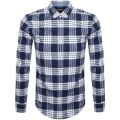 BOSS HUGO BOSS Rikard Check Shirt Navy