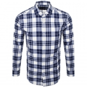 Product Image for BOSS HUGO BOSS Long Sleeved Jason Check Shirt Navy