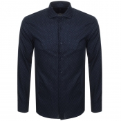 BOSS HUGO BOSS Long Sleeved Jason Shirt Navy