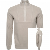 Product Image for BOSS Casual Zkycaptain Half Zip Knit Jumper Beige