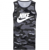 Product Image for Nike Swoosh Logo Vest T Shirt Grey