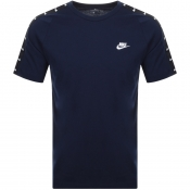 Product Image for Nike Swoosh 2 Logo T Shirt Navy