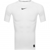 Nike Training Compression Logo T Shirt White