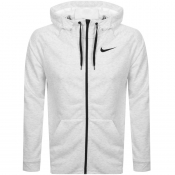 Nike Training Full Zip Logo Hoodie White