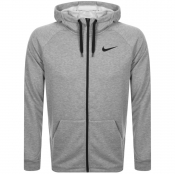 Nike Training Full Zip Logo Hoodie Grey