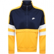 Nike Half Zip Track Sweatshirt Yellow