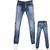 Emporio Armani J45 Regular Fit Jeans Blue