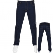Product Image for Emporio Armani J45 Regular Fit Jeans Blue