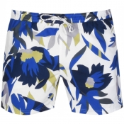 BOSS HUGO BOSS Batfish Floral Swim Shorts White