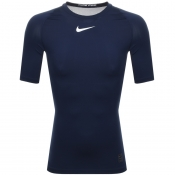 Product Image for Nike Training Compression Logo T Shirt Navy