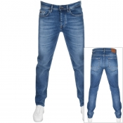 BOSS Casual Taber Tapered Fit Jeans Blue