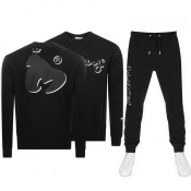 Money Shadow Sig Ape Crew Neck Tracksuit Black