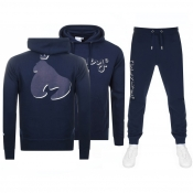 Product Image for Money Shadow Sig Ape Hooded Tracksuit Navy