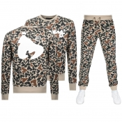 Product Image for Money Camo Crew Tracksuit Beige