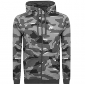 Product Image for Nike Camo Full Zip Hoodie Grey