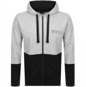 BOSS Bodywear Full Zip Hoodie Grey