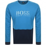Product Image for BOSS HUGO BOSS Logo Crew Neck Sweatshirt Blue