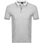 BOSS HUGO BOSS Phillipson 55 Polo T Shirt Grey