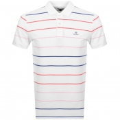 Product Image for Gant Multi Stripe Rugger Polo T Shirt White