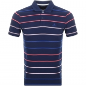 Gant Multi Stripe Rugger Polo T Shirt Blue