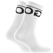 Product Image for HUGO Logo Sport Socks White