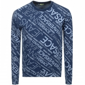 Product Image for Versace Jeans Crew Neck Sweatshirt Blue