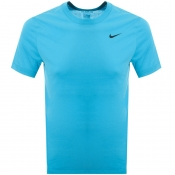 Product Image for Nike Training Crew Neck Logo T Shirt Blue