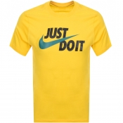Nike Just Do It Logo T Shirt Yellow