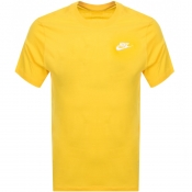 Nike Crew Neck Club T Shirt Yellow