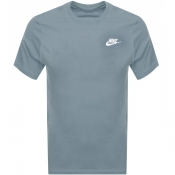 Nike Crew Neck Club T Shirt Blue