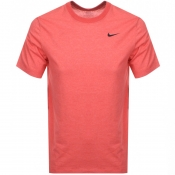 Product Image for Nike Training Crew Neck Logo T Shirt Red