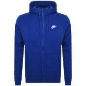 Nike Full Zip Club Hoodie Blue