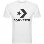 Converse Star Chevron Logo T Shirt White