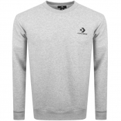 Converse Star Chevron Logo Sweatshirt Grey