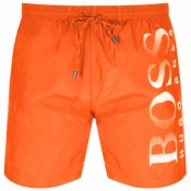 BOSS HUGO BOSS Octopus Swim Shorts Orange