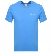 Product Image for Champion Crew Neck Logo T Shirt Blue