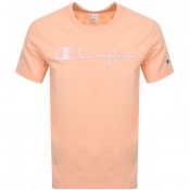 Product Image for Champion Crew Neck Logo T Shirt Orange