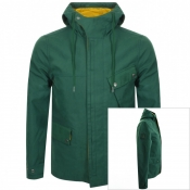 Product Image for Pretty Green Hooded Contrast Jacket Green