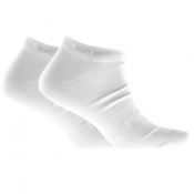 BOSS HUGO BOSS Two Pack Trainer Socks White
