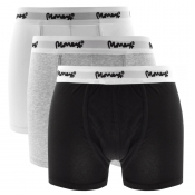 Money 3 Pack Logo Trunks Grey