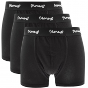 Money 3 Pack Logo Trunks Black