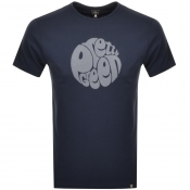 Product Image for Pretty Green Gillespie Logo T Shirt Navy