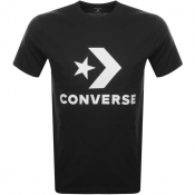 Converse Star Chevron Logo T Shirt Black