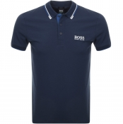 BOSS Athleisure Paddy Pro Polo T Shirt Navy
