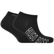 BOSS HUGO BOSS Two Pack Trainer Socks Black
