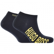 Product Image for BOSS HUGO BOSS Two Pack Trainer Socks Navy