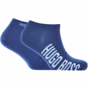 BOSS HUGO BOSS Two Pack Trainer Socks Blue