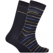 BOSS HUGO BOSS Two Pack Socks Navy