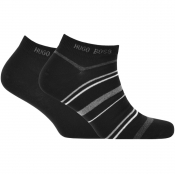 Product Image for BOSS HUGO BOSS Two Pack Trainer Socks Black
